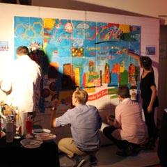 La création d'une fresque en équipe