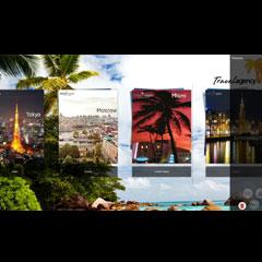 interface d'un catalogue numérique et tactile