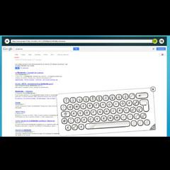 explorateur internet pour écran tactile de technologie multitouch