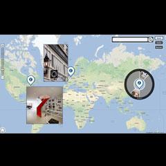 carte interactive pour écran tactile