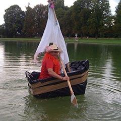 bateau construit lors du team building construction