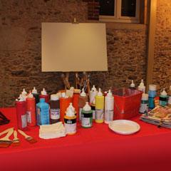 matériel de peinture pour la fresque