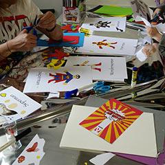 Atelier manuel pour enfants autour du thème des super-héros