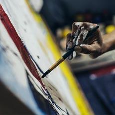 L'atelier peinture d'un team buidling créatif