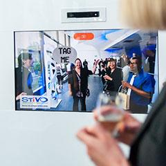 écran pour l'animation digitale réalite augmentee lors d'un événement