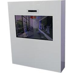 borne grand écran intégrant une animation de réalité aumgentée