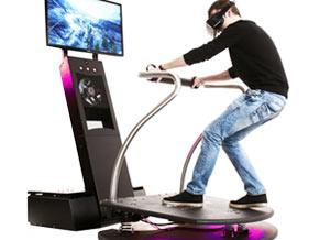 plateforme vibrante intégrant un système de jeu en réalité virtuelle