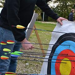 Cible de tir à l'arc sur pied