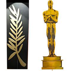 Oscar et plame d'or géants