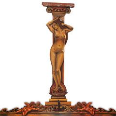 Elements d'ornement Art nouveau en bois peint