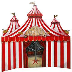 chapiteau de cirque en bois peint