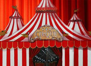 Chapiteau de cirque en bois artisanal