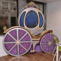 Grand décor de carrosse de centrillon lors d'une location
