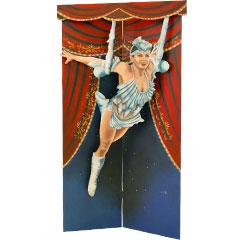 Panneau dé décors représentant une funambule