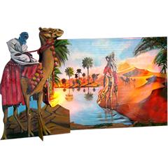 élements de décors artisanal réprésentant une oasis