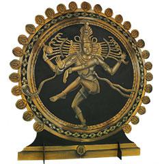 Statue de Shiva géante en bois