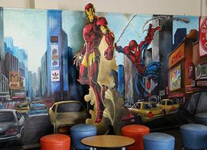 Décoration sur le thème des super héros