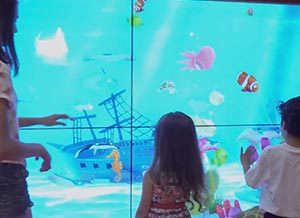 projection interactive de dessin d'enfant