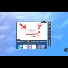 application tactile de dessin ou note sur un clip vidéo