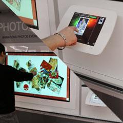 Les écrans tactiles pour les animations photo du camion photruck