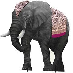 silhouette d'éléphant en bois
