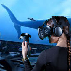 Scène de fond marin à 360° et en réalit virtuelle