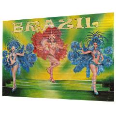 Fresque de décors danseuses de samba