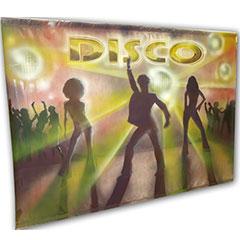 fresque peinte représentant un dance floor disco