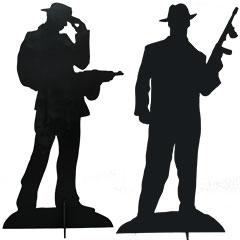 silhouette de décors gangsters