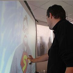 Utilisation du graffiti virtuel