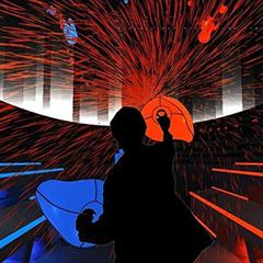 Jeu de réalité virtuelle musical pour animer un évenement