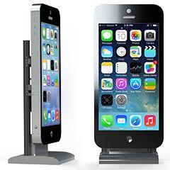 borne numérique tactile sous la forme d'un iphone géant