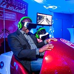 Le simulateur de montagnes russes en rélaité virtuelle