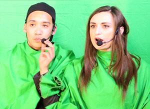 Animation de karaoké sur fond vert avec montage vidéo