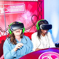casque virtuel de l'animation digitale pour événement