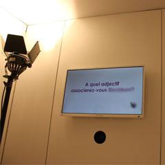 L'écran à question de l'animation vidéo la boite