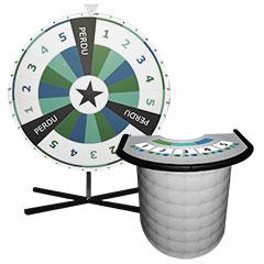Grand roue de loterie pour l'animation d'une soirée