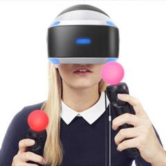 casque réalité virtuelle playstation pour l'animation digitale d'un événement