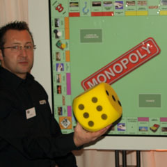 Le jeu de société géant du Monopoly