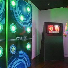 Installation événementiel du jeu moving light lors d'un cocktail d'entreprise