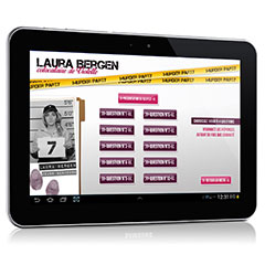 Tablette tactile pour organiser la murder party numérique