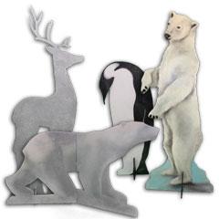 animaux polaire pour un arbre de noël d'entreprise
