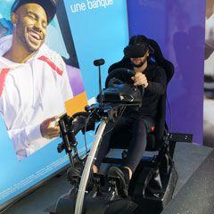 Simulateur auto en réalité virtuelle dans le camion Phototruck