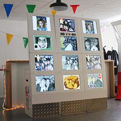Mur de 12 écrans du photowall