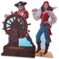 décors de pirates avec son gouvernail