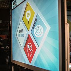 Support d'animation de repas en vidéo projection