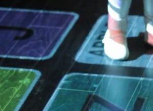 Porjection interactive au sol lors d'un événement digital