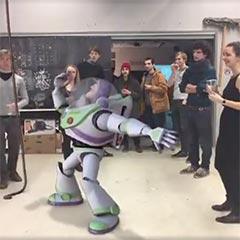 Personnage 3D de réalité augmentée
