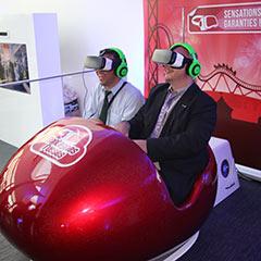 cockpit du simulateur de montagnes russes en VR