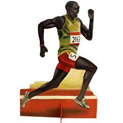 silhouette d'un coureur d'athlétisme